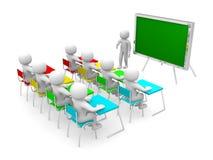 3d osoba pokazuje blackboard ręką Fotografia Stock