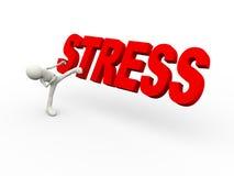 3d osoby kopania słowa stres Zdjęcia Stock