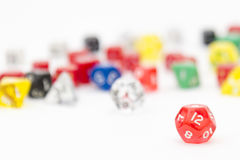 D12 and other RPG dice Stock Images