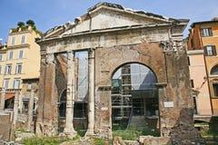 d'Ottavia del pórtico - Roma Imagenes de archivo