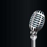 3D Oude metaalmicrofoon stock foto