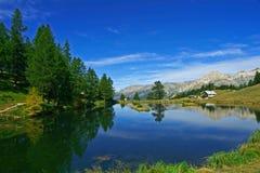 d'Oulx de Sauze - lago Laune Fotografía de archivo libre de regalías