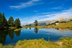 d'Oulx di Sauze - lago Laune Fotografie Stock Libere da Diritti