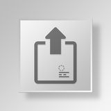 3D Outbox icon Business Concept Stock Image