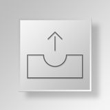 3D Outbox icon Business Concept Stock Photo