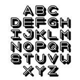 3D Outline Font and Alphabet. Vector alphabet letters. English alphabet. eps 10 Stock Photography
