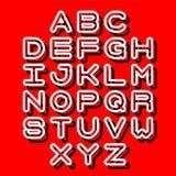 3D Outline Font and Alphabet. Vector alphabet letters. English alphabet. eps 10 Stock Photo