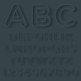 3D Outline With Shadow Alphabet Set Stock Images