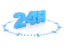 D'ouverture di Horaires - assista 24 h Fotografia Stock Libera da Diritti