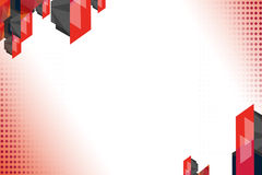 3d overlaping geometric shapes, abstrack background Stock Image