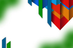 3d overlaping multicolored shapes, abstrack background Royalty Free Stock Images