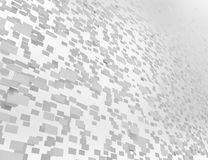 3d overlapping rectangles isolated over a white background Royalty Free Stock Images