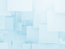 3d overlapping squares Stock Image