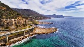 D Overzees Cliff Bridge 2 Norh-Kant stock fotografie
