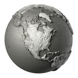 3D Północna Ameryka kula ziemska Fotografia Royalty Free