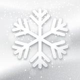 3d płatek śniegu na biały tle Fotografia Royalty Free