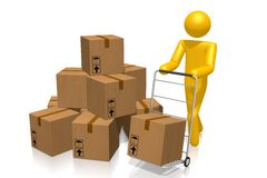 3D packages concept Royalty Free Stock Photo