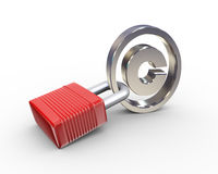 3d padlock copyright symbol Royalty Free Stock Photo