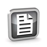 3d page icon Royalty Free Stock Photos