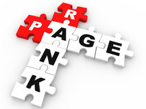 3D page rank puzzle crossword Royalty Free Stock Photography