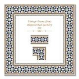 3D pagina d'annata 060 Diamond Check Geometry Fotografie Stock Libere da Diritti