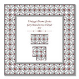 3D pagina d'annata 077 Grey Round Cross Flower Immagine Stock Libera da Diritti