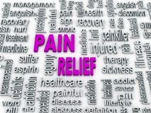 3d pain relief concept Royalty Free Stock Photography