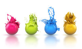 3D - Paintballs 1 Royalty Free Stock Images