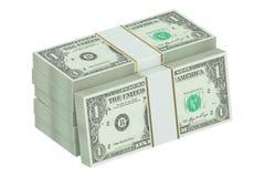 3D pakken dollars Royalty-vrije Stock Afbeelding