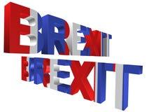 3D palavra - brexit Imagens de Stock Royalty Free