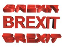 3D palavra - brexit Fotografia de Stock Royalty Free