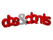 3D palavra Dos And Donts no fundo branco Imagens de Stock Royalty Free