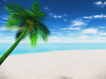 3D Palm tree landscape with abstract effect Royalty Free Stock Photography