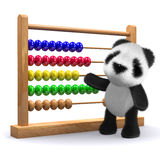 3d Panda with an abacus. 3d render of a panda standing next to an abacus Stock Image