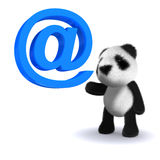 3d Panda has an email address Royalty Free Stock Photo