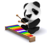 3d Panda plays beautiful music Stock Image