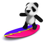 3d Panda surfs Royalty Free Stock Photo