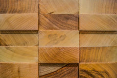 3D panel of afrormosia, wooden background Stock Images
