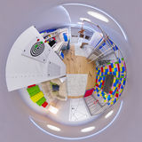 3d panorama dell'illustrazione 360 della stanza del ` s dei bambini Immagine Stock Libera da Diritti