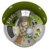 3d panorama för illustration 360 av rum för barn` s Royaltyfri Foto