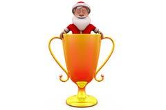 3d Papai Noel no conceito do copo Imagens de Stock