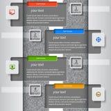 3D papel abstracto Infographics Fotografía de archivo libre de regalías