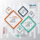 3D papel abstracto Infographics Fotos de archivo