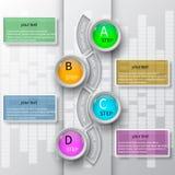 3D papel abstracto Infographics Foto de archivo libre de regalías