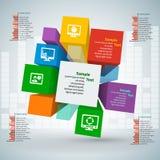 3D papel abstracto Infographics Fotografía de archivo