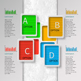 3D papel abstracto Infographics Imagen de archivo libre de regalías