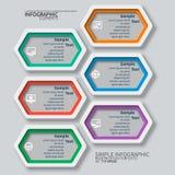 3D papel abstracto Infographics Imagen de archivo