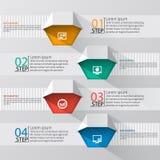 3D papel abstracto Infographics Foto de archivo