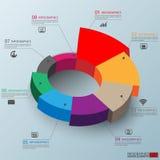 3D papel abstrato Infographic ilustração stock