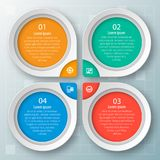 3D papel abstrato Infographics Foto de Stock Royalty Free